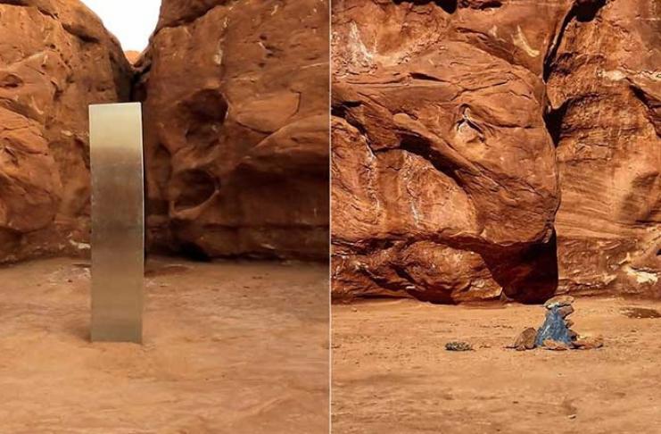 Monólito misterioso desaparece do deserto de Utah