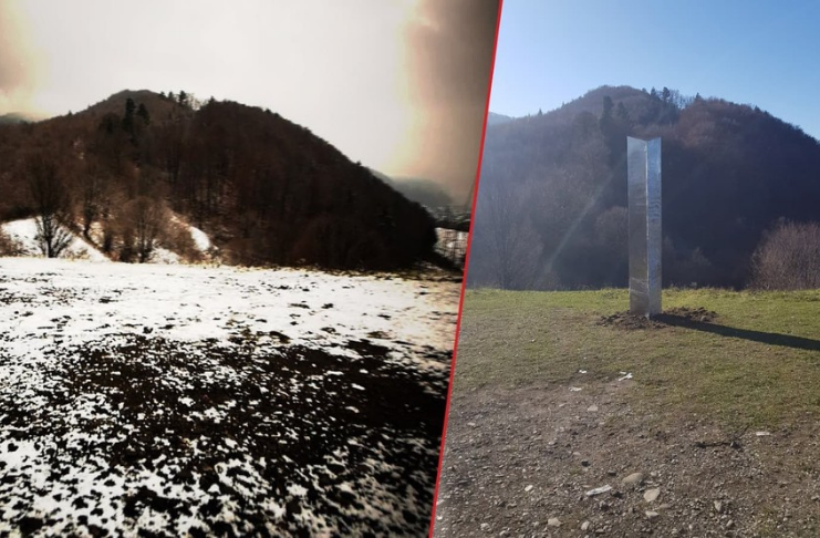 Monólito misterioso desaparece da floresta romena