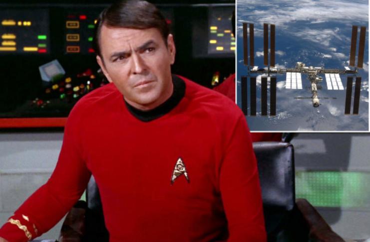 As cinzas do ator de Star Trek, James Doohan, secretamente transportadas para o espaço