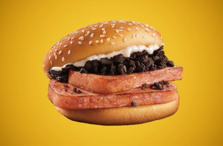 McDonald's planeja vender 'hambúrguer de spam' coberto com Oreo na China