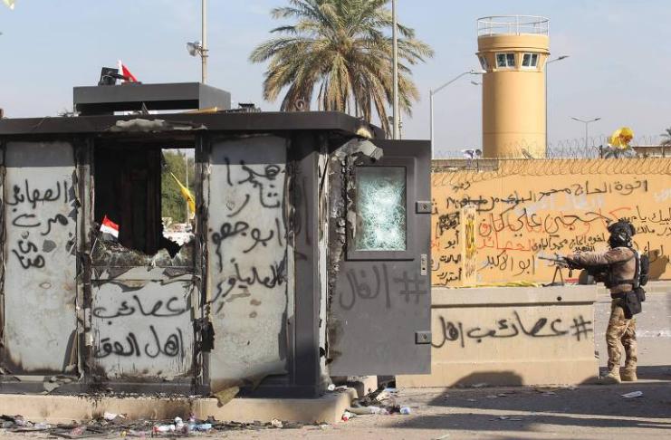 Embaixada dos EUA em Bagdá alvo de ataque com foguetes apoiado pelo Irã