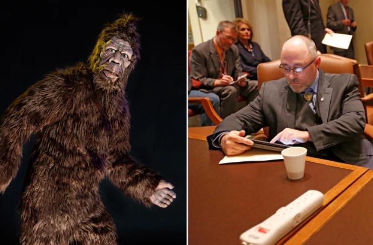 O representante Justin Humphrey propõe temporada de caça ao Pé-grande