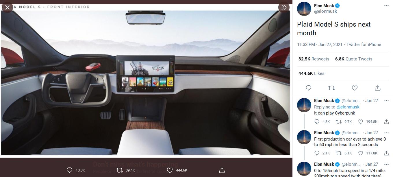 Ações da desenvolvedora de Cyberpunk 2077 disparam com tweet de Elon Musk