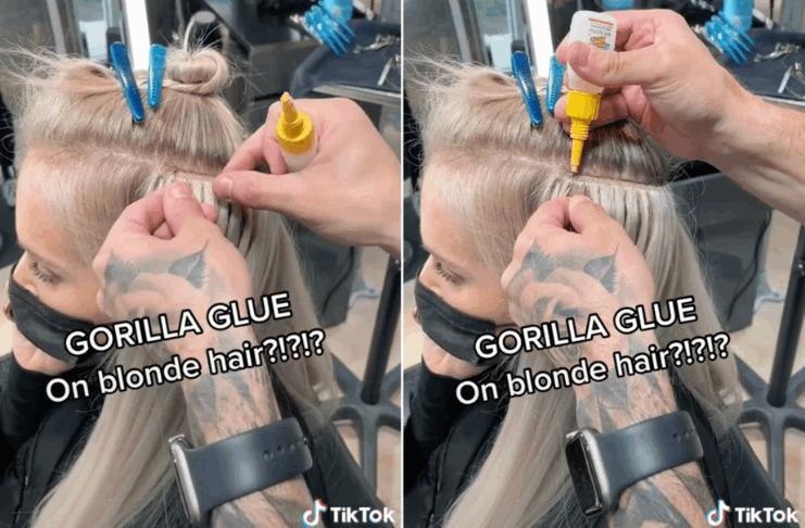 O proprietário do salão de beleza admite que usa Gorilla Glue no cabelo das clientes há anos